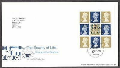 2003 The Secret Life Of Dna Se-Tenant Booklet Pane On Fdc