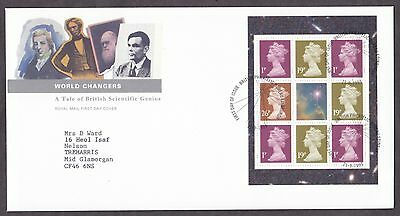 1999 World Changes Se-Tenant Booklet Pane On Fdc