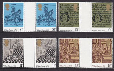 1976 Caxton ( Printing ) Gutter Pairs Set Of 4 Unmounted Mint