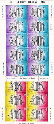 Jersey Europa 1979 Complete Sheets 2 MNH Stamps