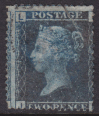 1858 2d BLUE PLATE 9 USED WITH FAULTS