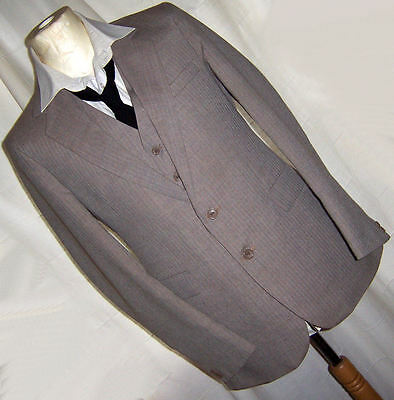 VINTAGE MENS 1960's FENTON ENGLAND 3 PIECE FITTED SUIT INDIE MOD RETRO 40