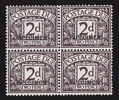 GREAT BRITAIN 1914 Postage Due 2d agate block SPECIMEN MNH ** SCARCE!