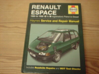 Renault Espace 1985-1996 Haynes Workshop Manual Service Repair Petrol Diesel