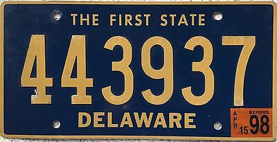 FREE UK POSTAGE American Delaware Riveted USA Licence Number Plate 443937