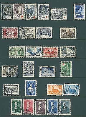 FINLAND - Used collection of commemoratives including sets - 1931 onwards