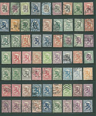 FINLAND - 1917 used collection for study & postmarks