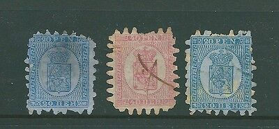 FINLAND - 1866 used trio for study