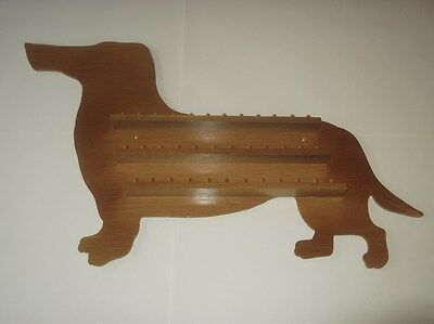 Stock Clearance 36pc Dachshund Wooden Thimble Display Rack ( Pine )
