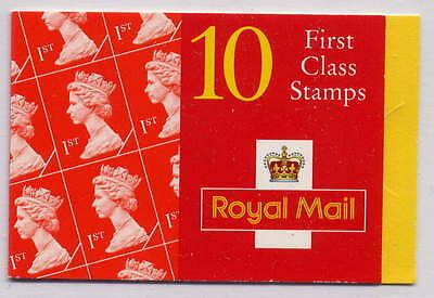 GB 1996 10 x 1st CLASS BARCODE BOOKLET HD30