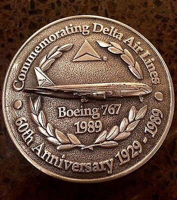 Boeing 767 Delta Anniversary Coin Medal 3 Inches