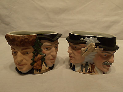 1985 Avon Collector's Character Mugs - Lewis and Clark and The Wright Brothers