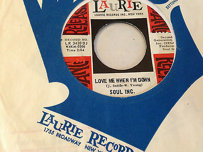 SOUL INC - LOVE ME WHEN I'M DOWN - US LAURIE + bag Beat Bespoke Killer HEAR