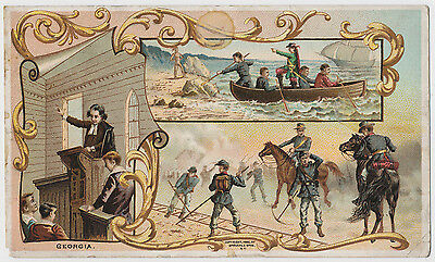 Georgia - A Pictorial History - Arbuckles' Coffee - Victorian Trade Card