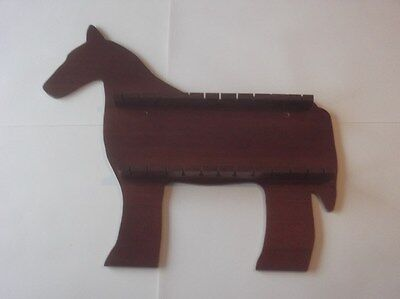 Stock Clearance 24pc Horse Wooden Spoon Display Rack ( Mahogany )