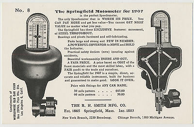 The Springfield Motometer for 1907, Adv. Worldwide Old Car Club, Los Angeles, CA