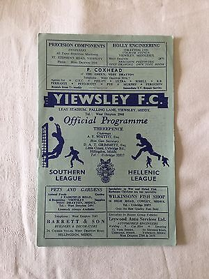 YIEWSLEY v ASHFORD TOWN 1962/3.