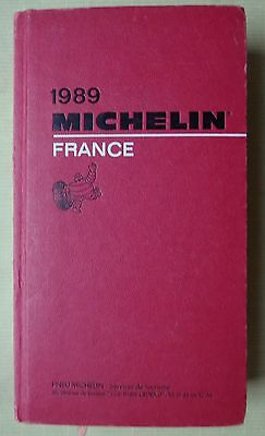 guide MICHELIN rouge FRANCE 1989 (exemplaire n° 2)