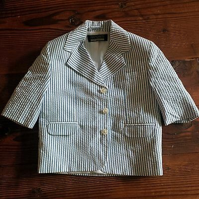 Baby/Toddler Boys Blue/White Striped Suit Jacket 12-18 Months EUC!!! by Samtex