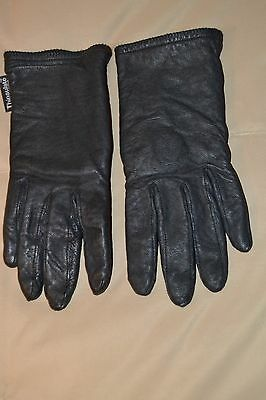"""""""Thinsulate"""" Women's Black Leather Thermal Lined Winter Gloves - Small"""