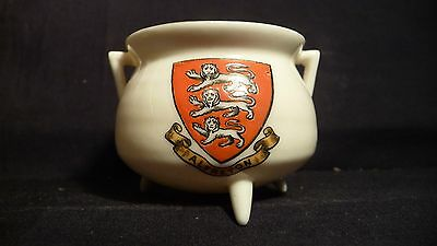 Goss China Manx Peel Pot - Alfreton