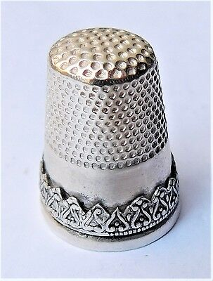NO RESERVE Sterling Silver Thimble Vintage