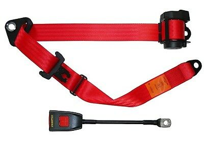 Seat Belt - Auto Lap & Diagonal - Red SECURON 500/30RED