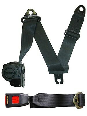 Seat Belt - Auto Lap & Diagonal - Black SECURON 5051S/W