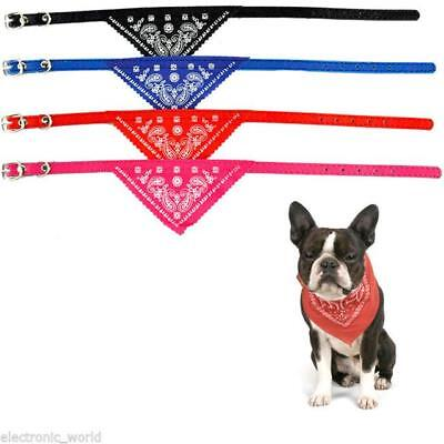 Adjustable Pet Dog Puppy Cat Pooch Neck Scarf Bandana with Collar Neckerchief