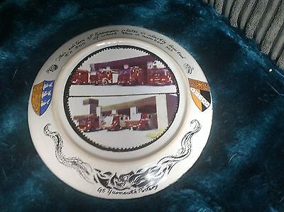 yarmouth pottery.fireservice plate limited edition 383 out of 500