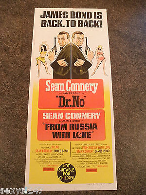 Dr.no From Russia With Love Bond 007 Original Daybill 1966 Scarce Litho Poster