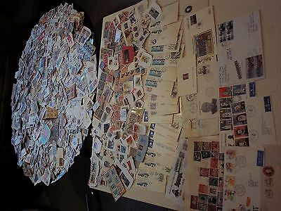 Worldwide - Large Lot Of On Paper. Over 2 Lbs. Incl. Recent Mail Clippings.