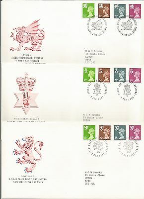 Gb Fdc 1991 New Regional Issues-3 Covers