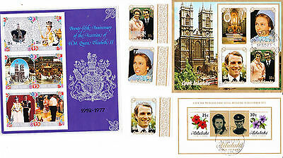 Cook Islands - QE2 & Priness Anne - stamps 1973 & 1977