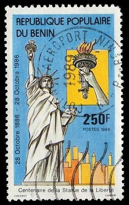 BENIN 635 (Mi448) - Statue of Liberty Centenary (pa72649)