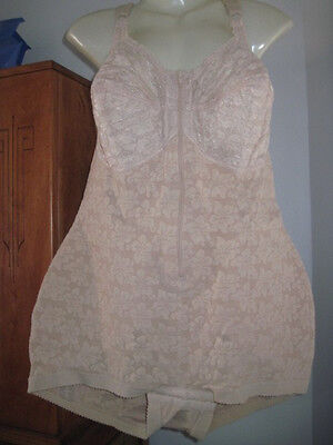 VINTAGE NYLON Sissy LACE Powernet ALL IN ONE Corset GIRDLE L XL XXL NOS NEW
