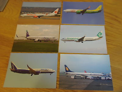 14 x Colour postcards of airlines that flew/fly B737-800s