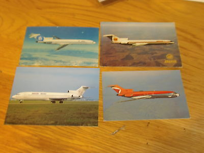 8 x colour postcards of airlines that flew/fly B727 aircraft