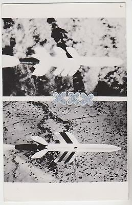 Real Photo Postcard - Aerial View Of A Missile From An Aeroplane ?
