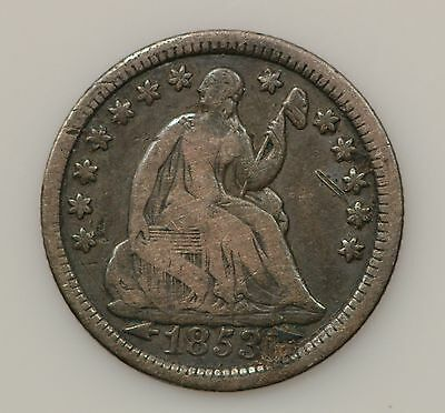 1853-P Seated Liberty Silver Half Dime *362