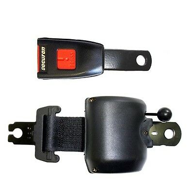 Seat Belt - Retracting & MU Lap - Black SECURON 2220MU/10