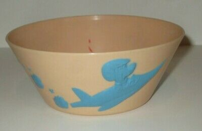 Hanna Barbera Huckleberry Hound Vintage Plastic Cereal Bowl F&f Mold Die Works