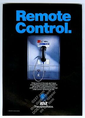1985 AT&T payphone pay phone wide style photo vintage print ad
