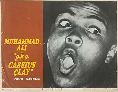 close up champion boxer Muhammad Ali a.k.a. Cassius Clay 1970 # 2 lobby card 999