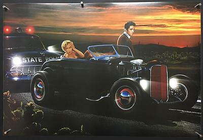 Hollywood Legends Marilyn Monroe Elvis Presley pulled over by cops 90's poster