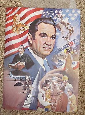 ORIGINAL Poster GEORGE WALLACE 1968 Has fold down the middle American Independen