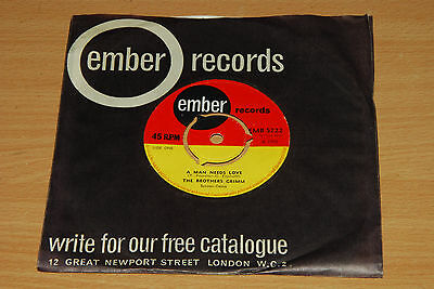 The Brothers Grimm - A Man Needs Love - UK 7 INCH (EMB S222)