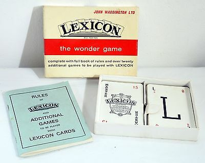 Vintage LEXICON Card Game - Complete. John Waddington Ltd. Collectable Game