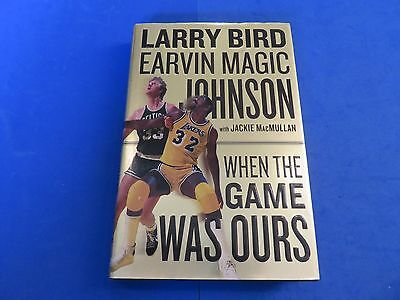 Magic Johnson Signed Book ~ Larry Bird Magic Johnson When The Game Was Ours
