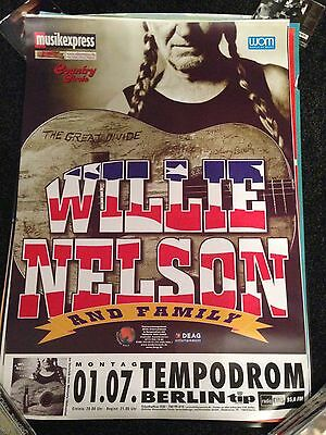 Willie Nelson -  Large promo only German BILLBOARD RARE concert poster 2002